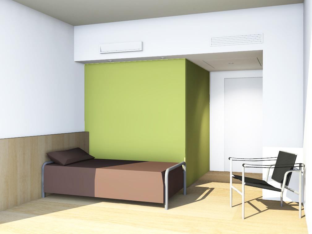 Chambre verte (+ blanche) | Fendler Seemuller architectes